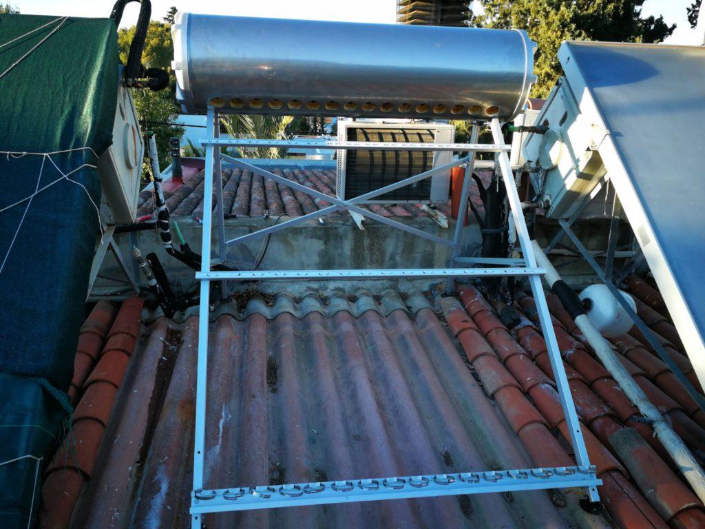 Estructura equipo solar termosifón ACS