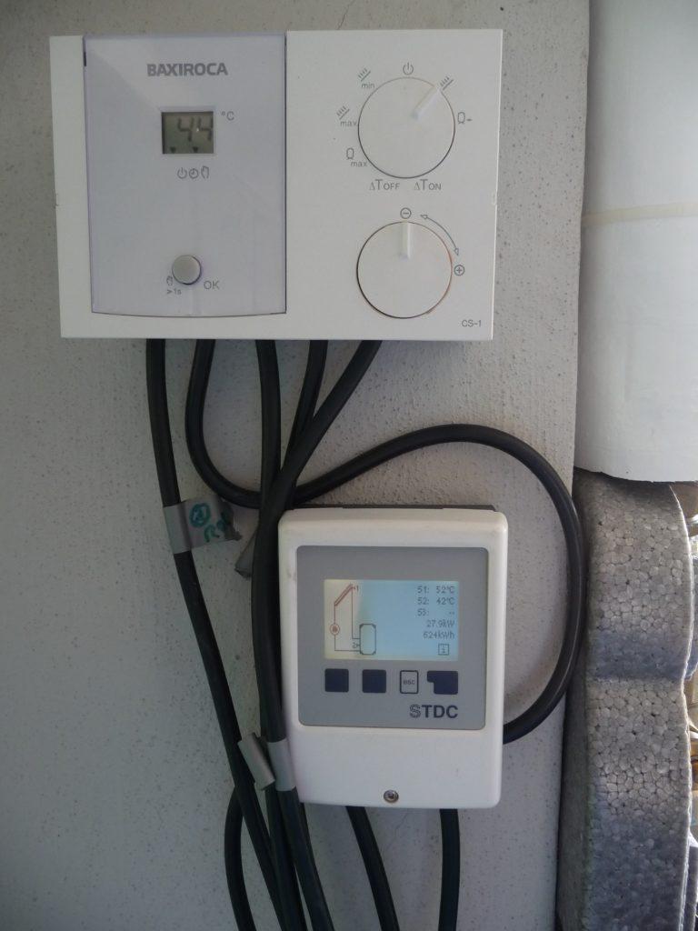 Centralita de control instalación solar