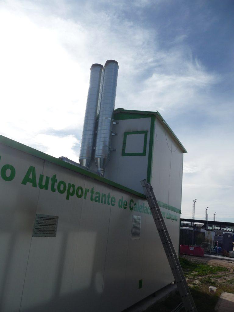 Autoportante calderas de biomasa + silo