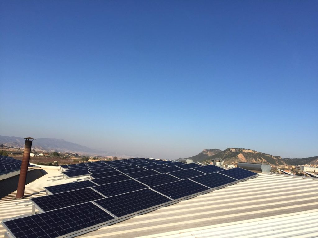 Energía solar Fotovoltaica en aucotonsumo sobre nave de cubierta de Almendras de Pliego