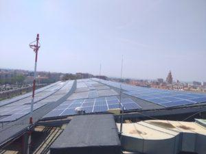 Instalación solar fotovoltaica Hospital Reina Sofía