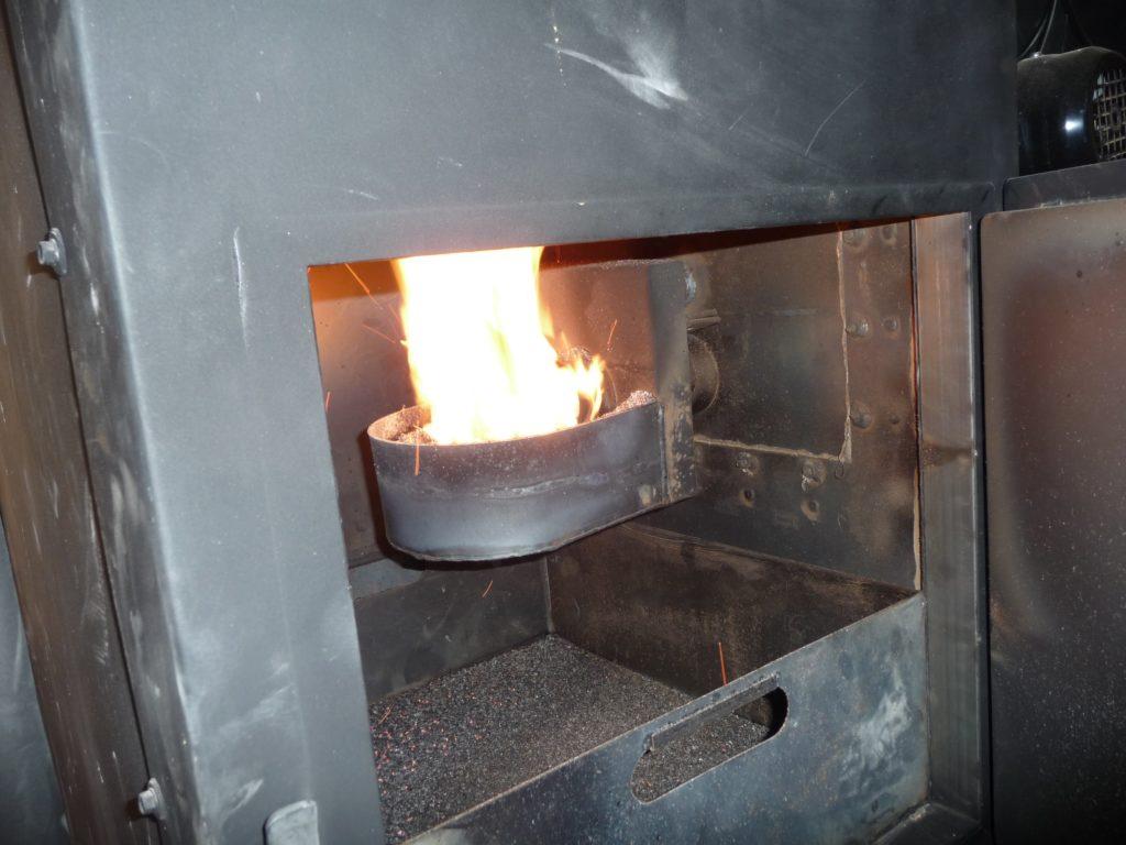 Quemador de caldera de biomasa de 35 kW