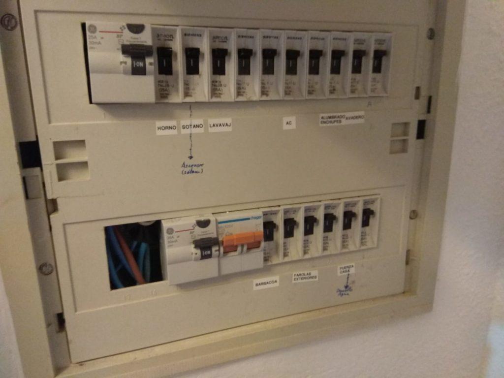 Cuadro eléctrico instalación solar