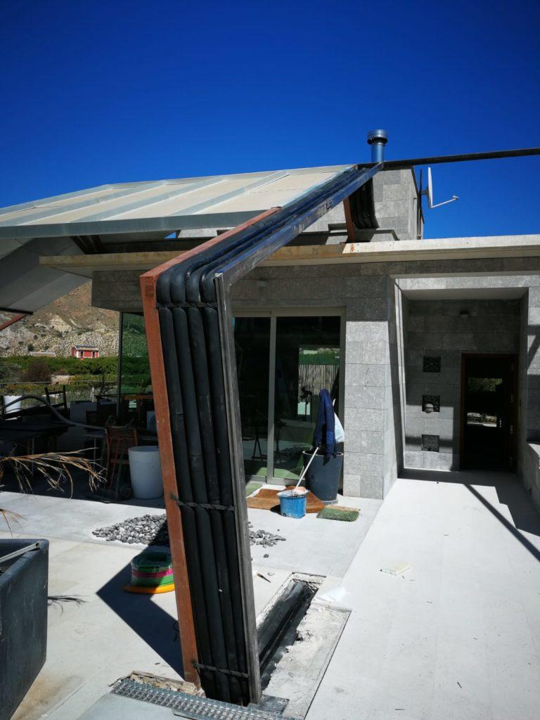 Detalle instalación tuberías para climatización