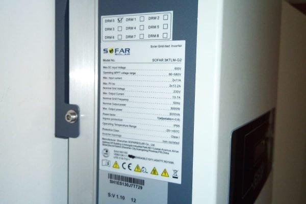 Inversor energía solar de 3 kW