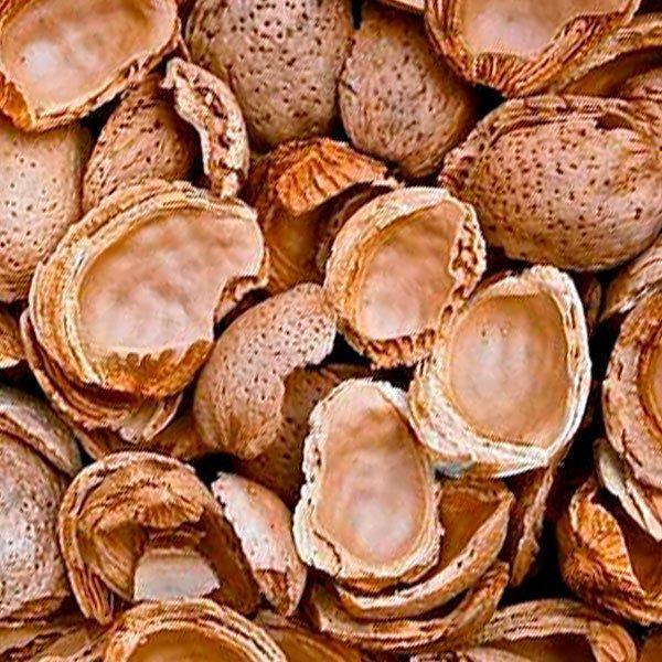 Biomasa cáscara almendra a granel