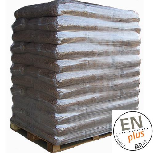 Pallet de 77 sacos de 15 kg de pellet de pino EN-Plus A1