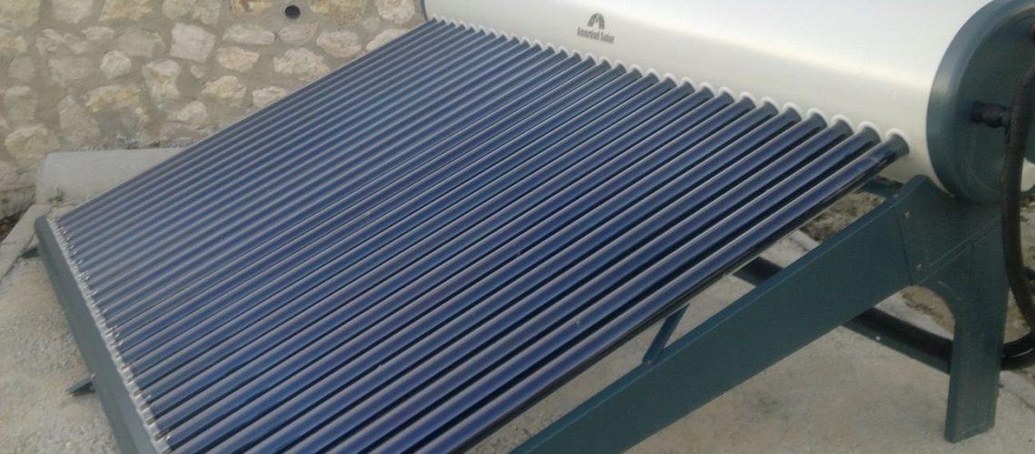 Energía solar termosifón tubos de vacío para agua producción de caliente sanitaria