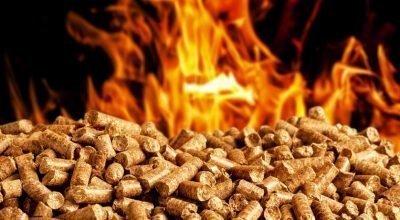 Combustión de pellets.